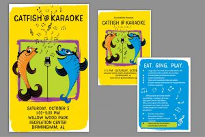 Catfish & Karaoke Poster and Postcard